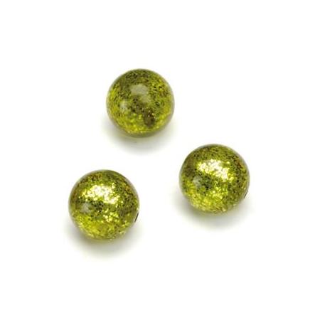 Perles Polaris Scintillante 12mm olive clair