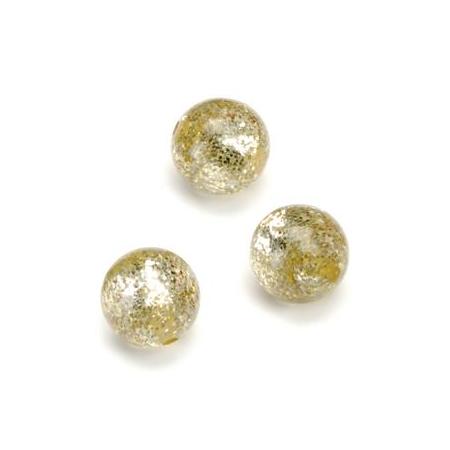Perles Polaris Scintillante 12mm beige