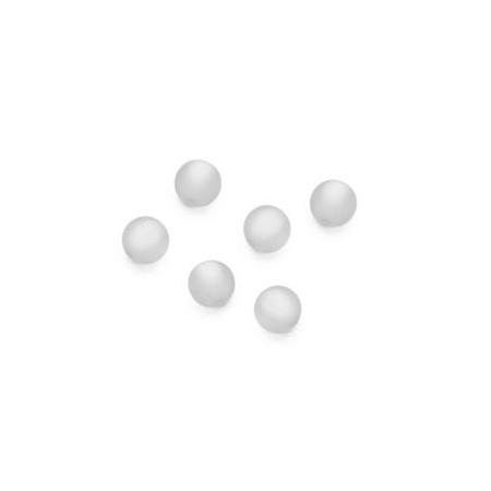 Perles Polaris mates 6mm blanc