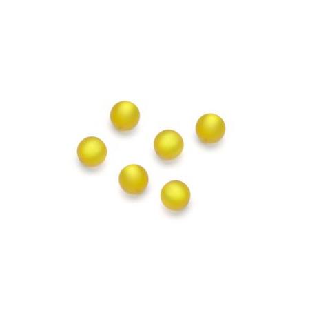 Perles Polaris mates 6mm jaune