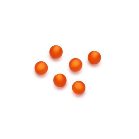 Perles Polaris mates 6mm orange