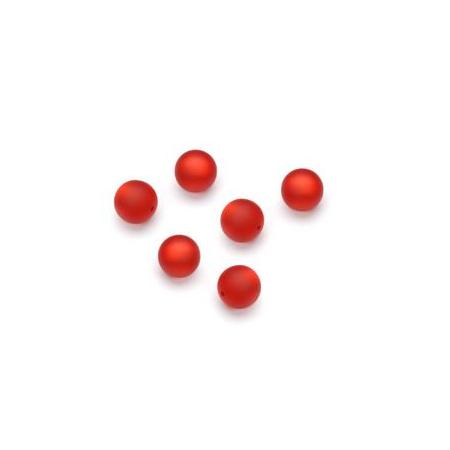 Perles Polaris mates 6mm rouge
