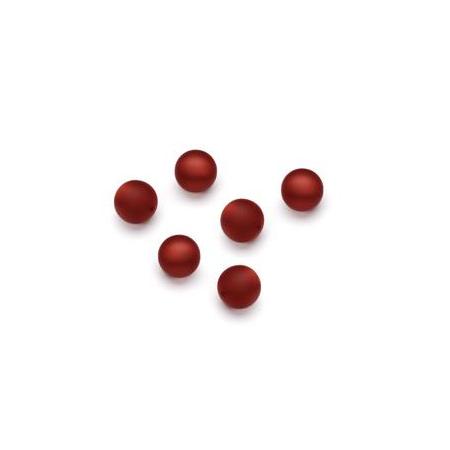 Perles Polaris mates 6mm rouge foncé