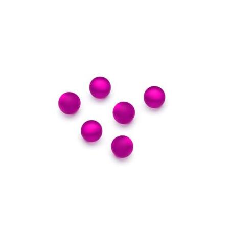 Perles Polaris mates 6mm fuschia