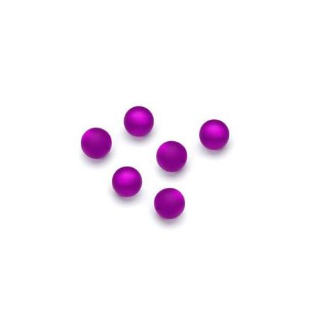 Perles Polaris mates 6mm violet