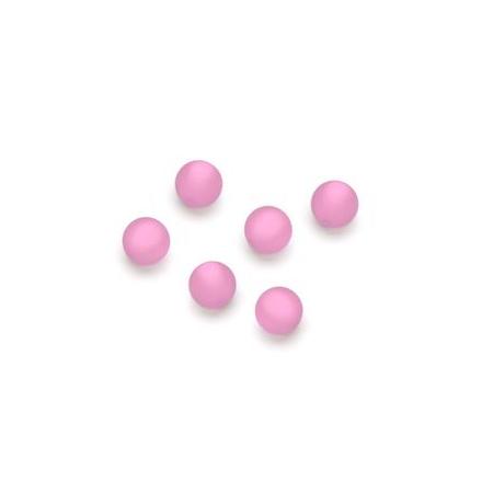 Perles Polaris mates 6mm rose