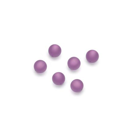 Perles Polaris mates 6mm lilas