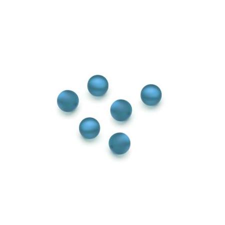 Perles Polaris mates 6mm bleu