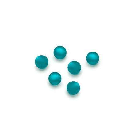 Perles Polaris mates 6mm turquoise