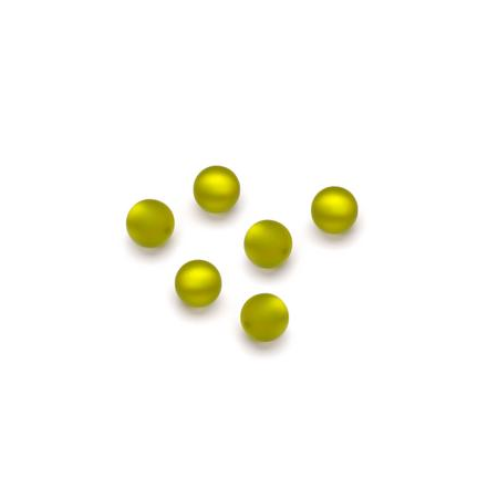 Perles Polaris mates 6mm vert clair