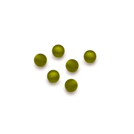 Perles Polaris mates 6mm olive