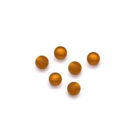 Perles Polaris mates 6mm brun