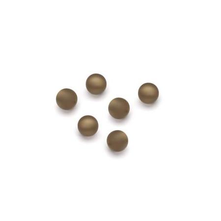 Perles Polaris mates 6mm brun foncé