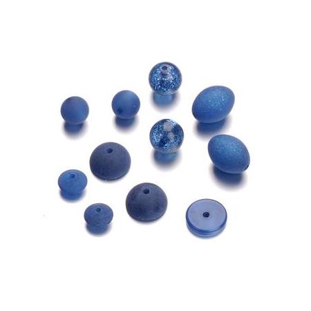 Mix de perles formes Polaris bleu foncé