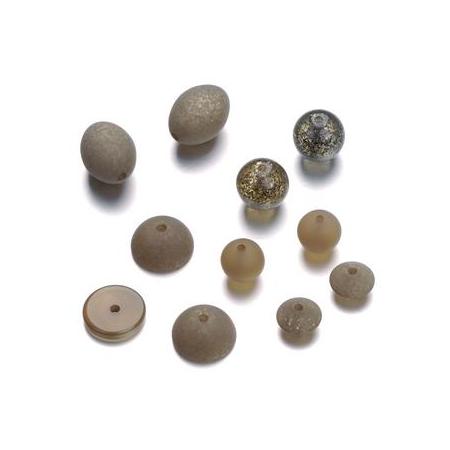 Mix de perles formes Polaris boue