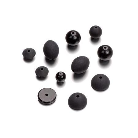 Mix de perles formes Polaris noir