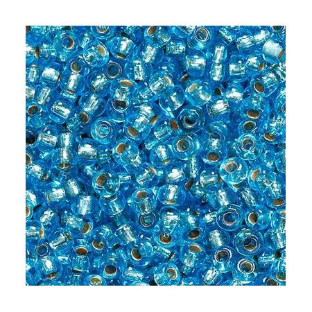 Rocailles à broder/boîte bleu cl. 17 grs
