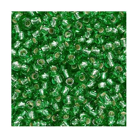 Rocailles à broder/boîte vert 2,5 17 grs