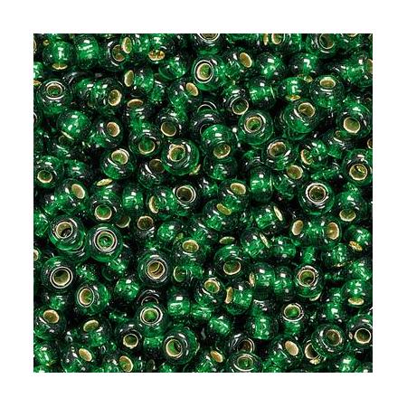 Rocailles à broder/boîte vert pr. 17 grs