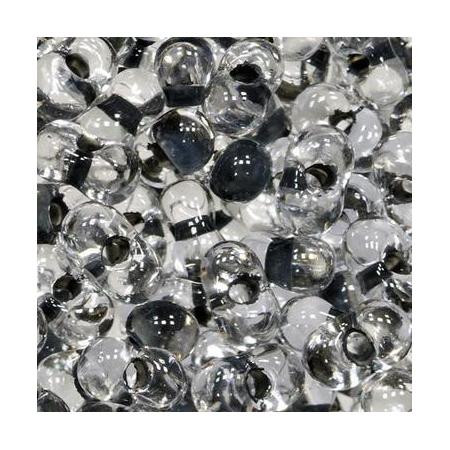 Rocailles Farfalle 2x4mm cristal - noir 15 grs