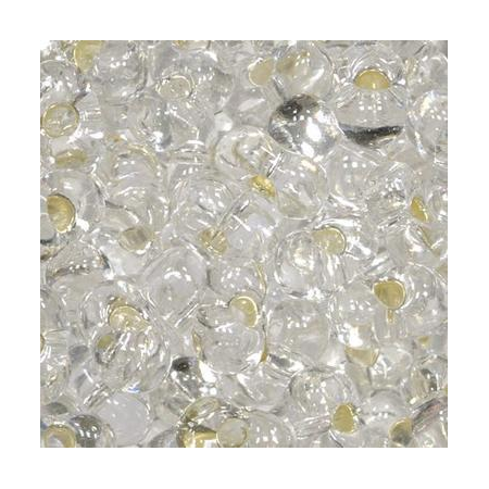 Rocailles Farfalle 2x4mm cristal - argent 15 grs