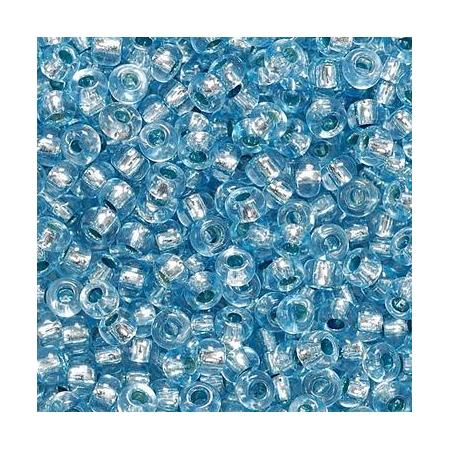 Rocailles arg.2,5mm bleu pigeon 20 grs