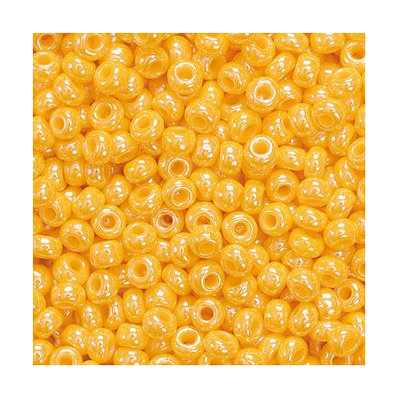 Rocailles indiennes 2,5mm orange 20 grs