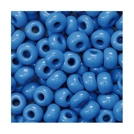 Rocailles indiennes 5mm bleu foncé 35 grs