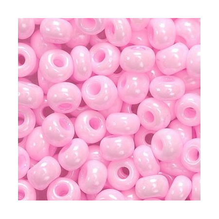 Rocailles indiennes 5mm rose 35 grs
