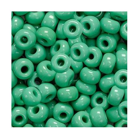 Rocailles indiennes 5mm vert 35 grs