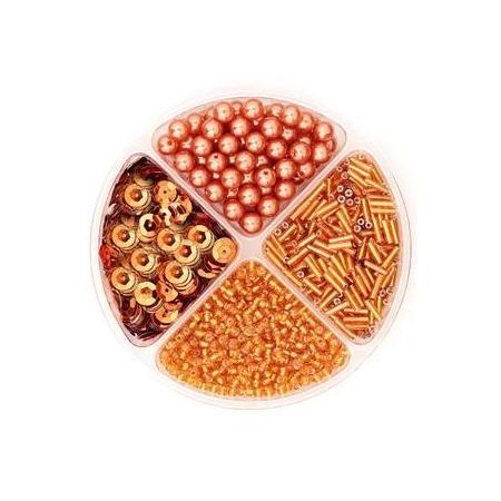 Assorties de perles/paillettes orange