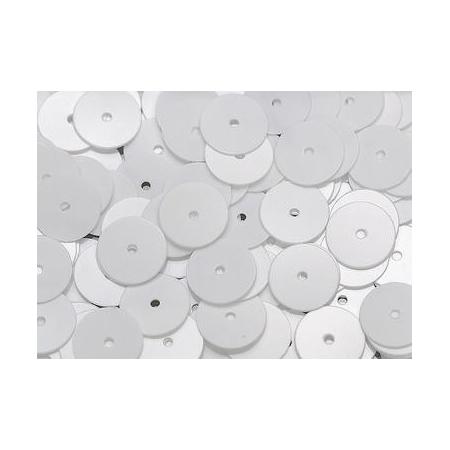 Paill.8mm plates, blanc