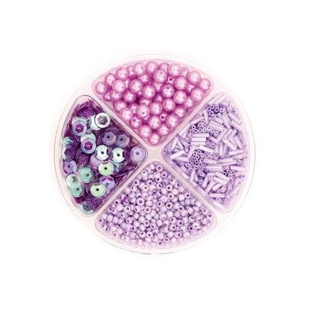 Assorties de perles/paillettes lilas