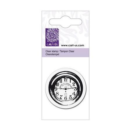 Clear tampon petit horloge
