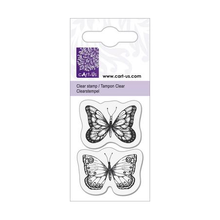 Clear tampon petit papillons