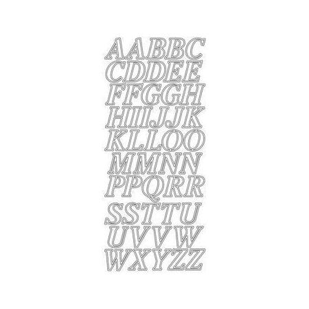Sticker alphabet 2 cm or