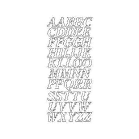 Sticker Alphabet 2 cm argent
