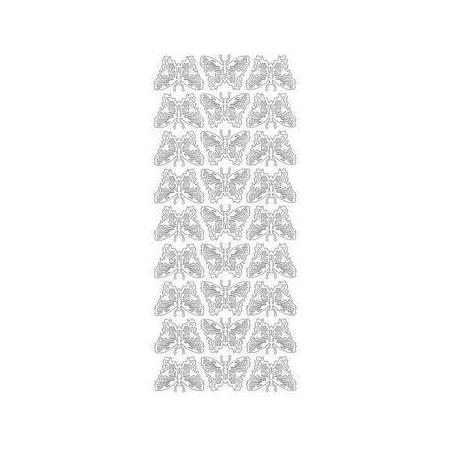 Sticker décorative Papillons or