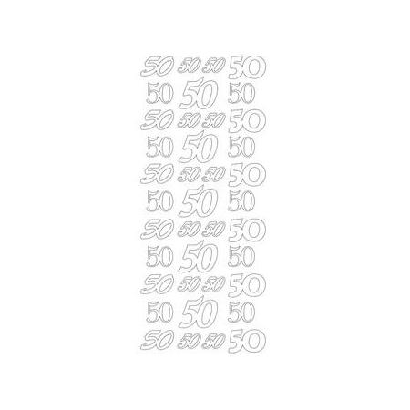 Sticker chiffre 60 doré