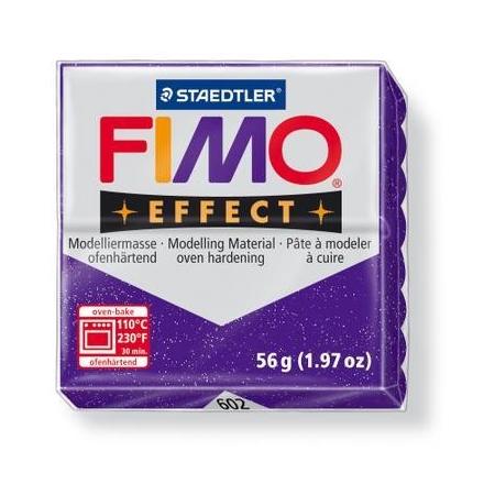 Fimo Effect lilas paillettes