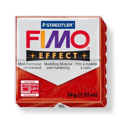 Fimo Effect rouge paillettes