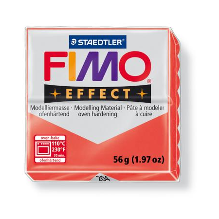 Fimo Effect rouge transparent