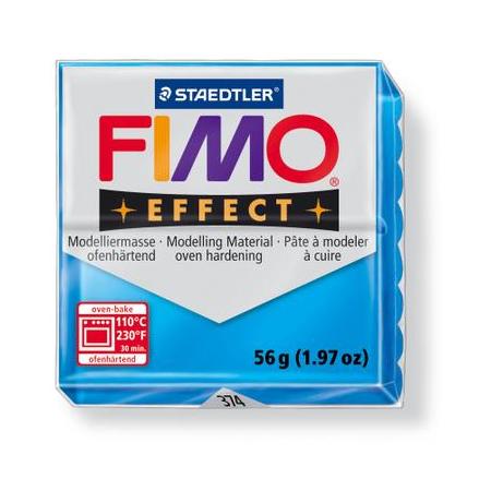 Fimo Effect bleu transparent