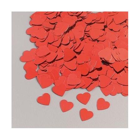 Paillettes coeur rouge 20g