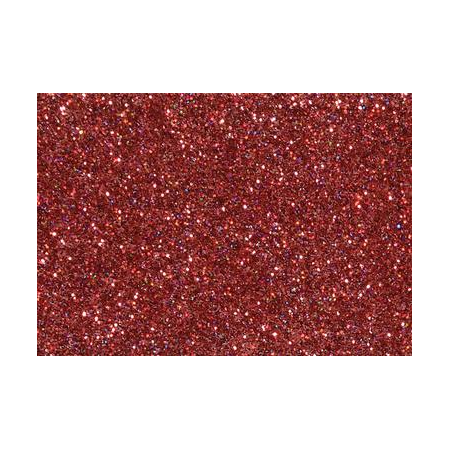 Hologramme glitter rouge7g