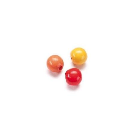 Mix de perles en bois 4mm ja/roSB155