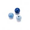 Mix de perles en bois 6mm bleu SB118