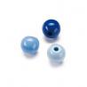 Mix de perles en bois 8mm bleu SB80