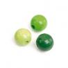 Mix de perles en bois 8mm ve.pr SB80