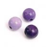 Mix de perles en bois 10mm lilasSB47